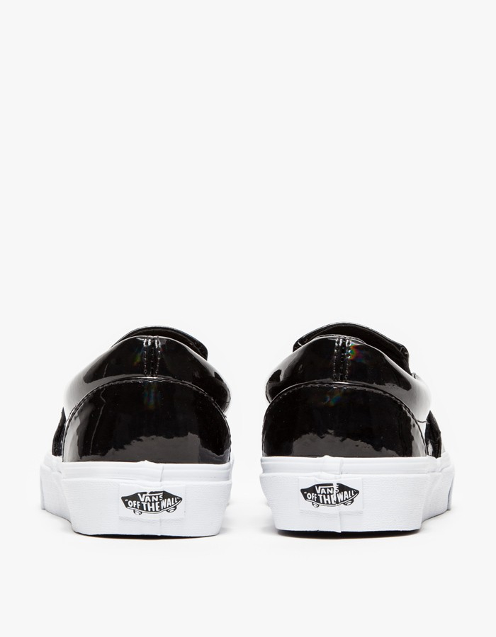 vans classic slip on patent leather trainers