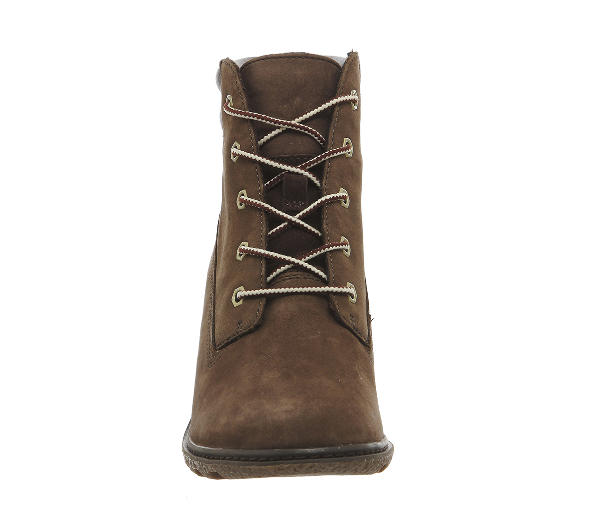 timberland amston 6 inch wedge ankle boots in brown lyst