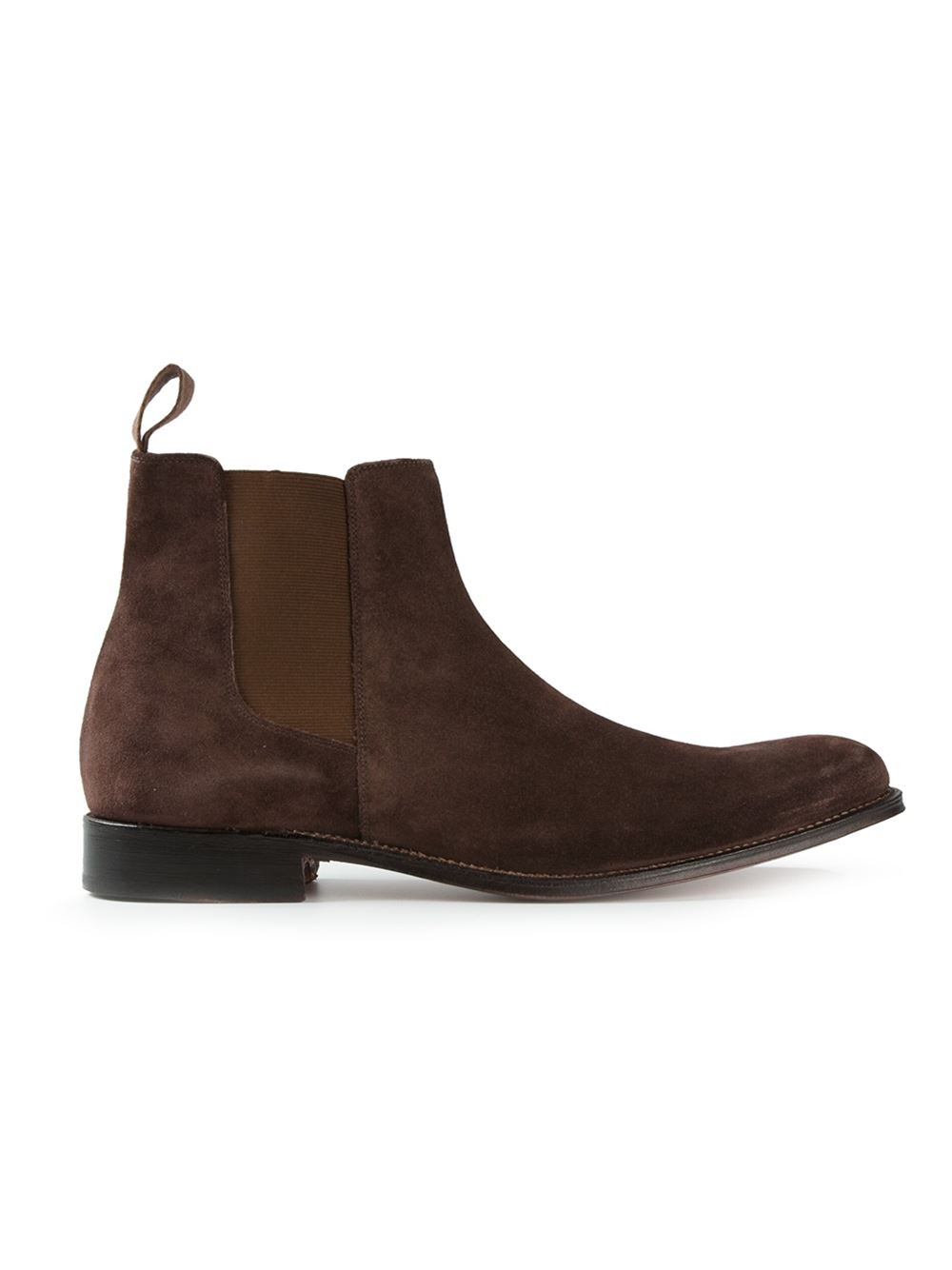 grenson classic chelsea boots in brown for men lyst. Black Bedroom Furniture Sets. Home Design Ideas