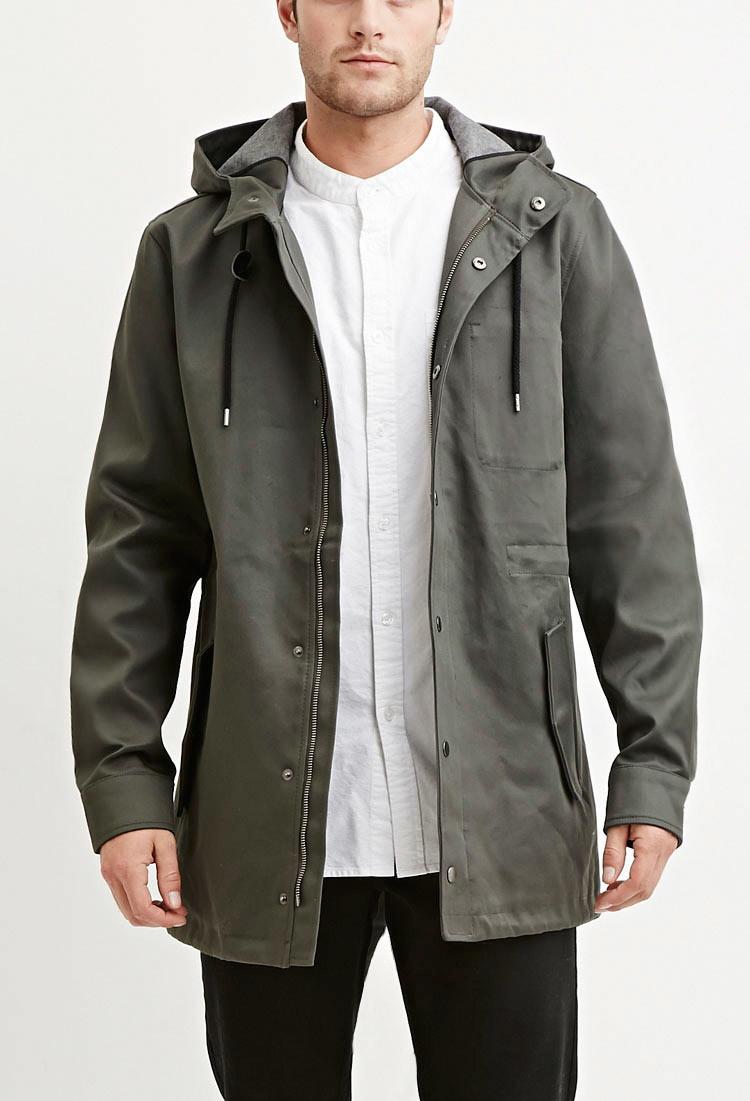 Mens Olive Parka Jacket | Fit Jacket
