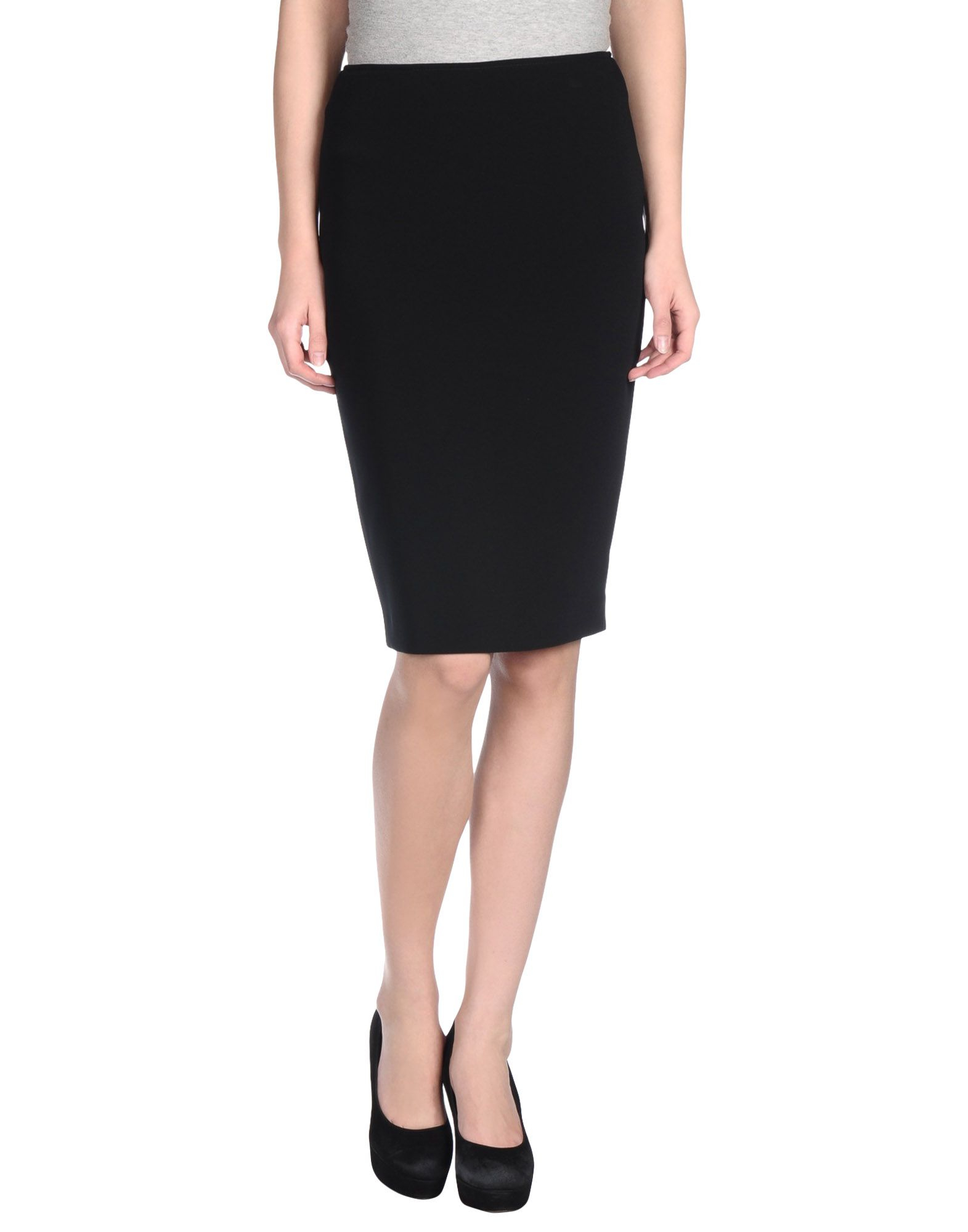 caractere knee length skirt in black