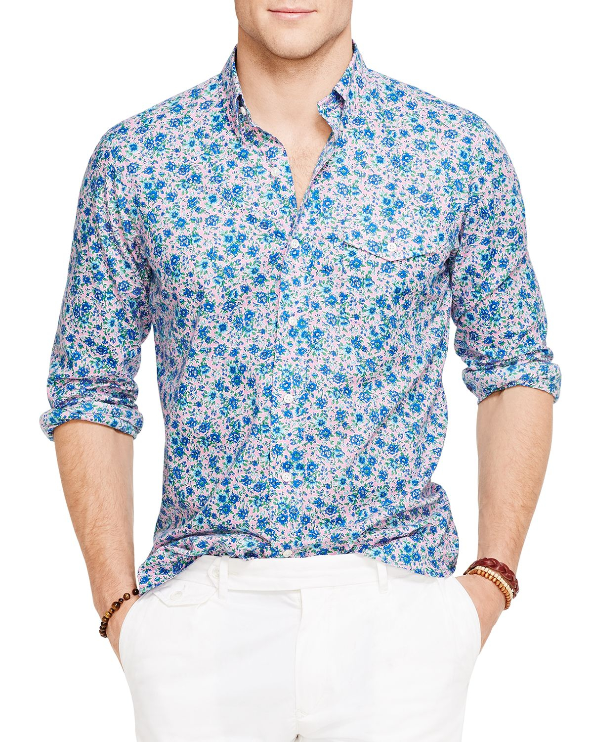 Ralph lauren Polo Floral Print Bleecker Shirt in Blue for Men | Lyst