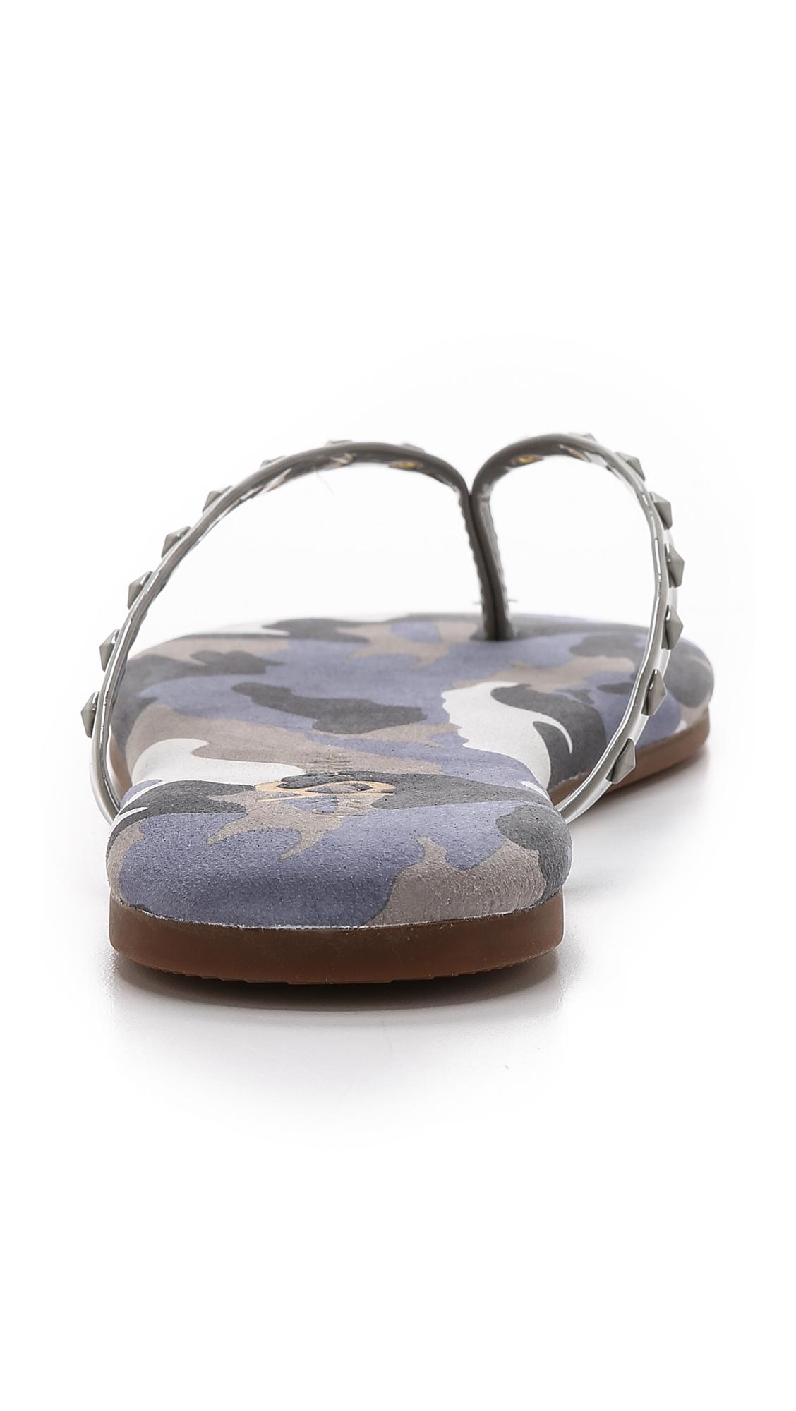4ad3ecff0bbf1 Yosi Samra Roee Studded Camo Flip Flops - Limette in Blue - Lyst