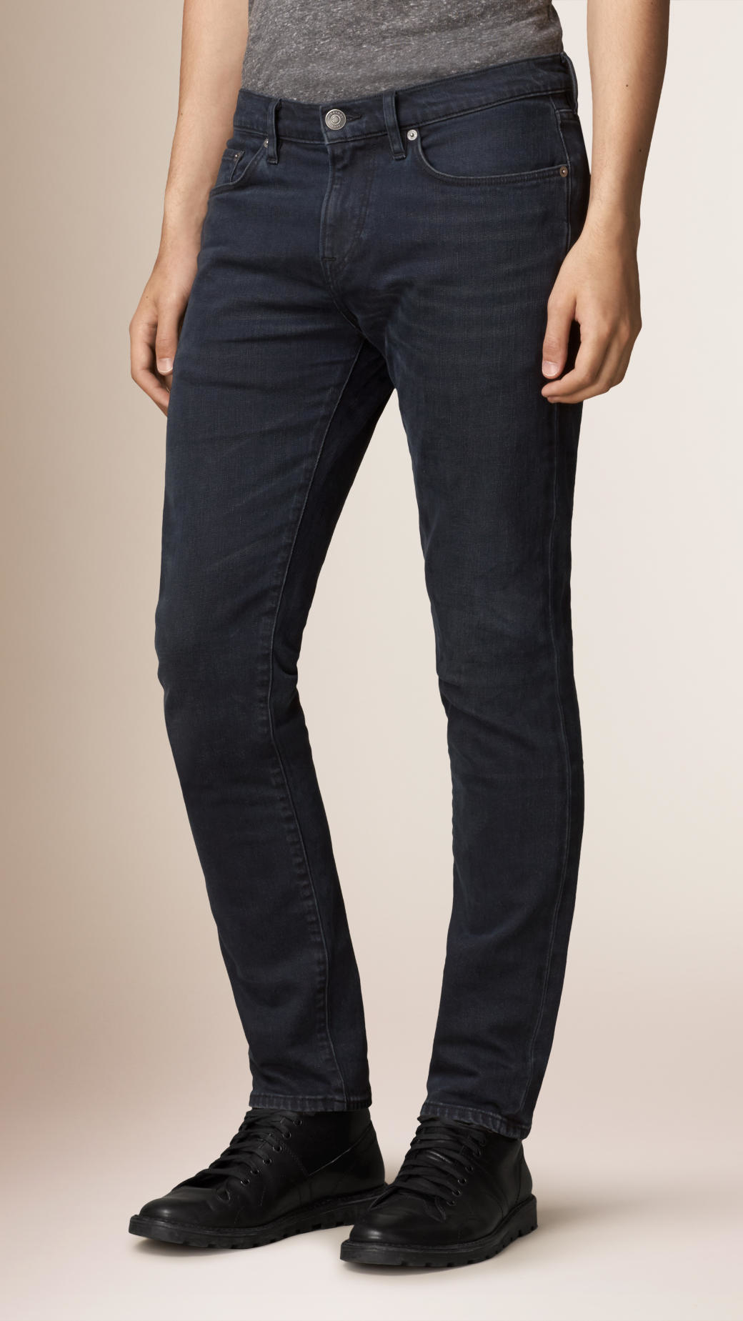 Lyst - Burberry Slim Fit Washed Indigo Jeans in Blue for Men