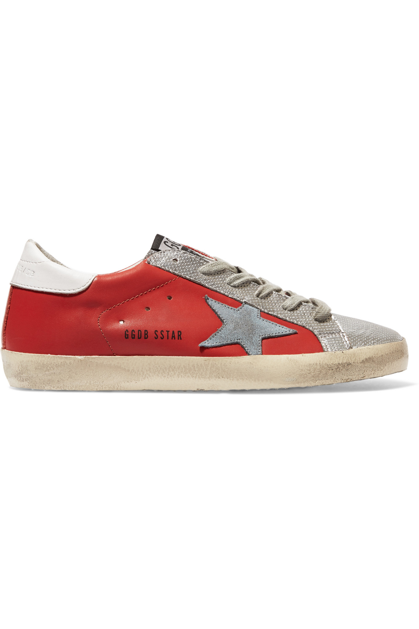 Superstar Distressed Metallic And Patent-leather Sneakers - Black Golden Goose dGeklQgQb