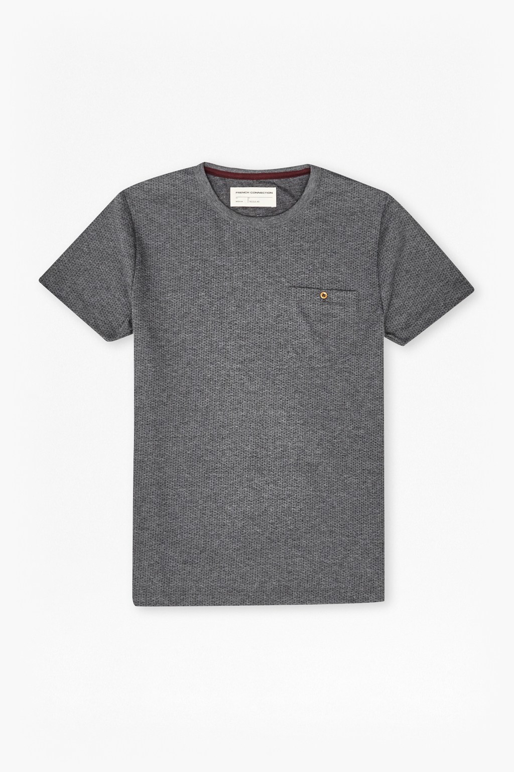 Lyst french connection micro check polo in gray for men for French connection t shirt dress