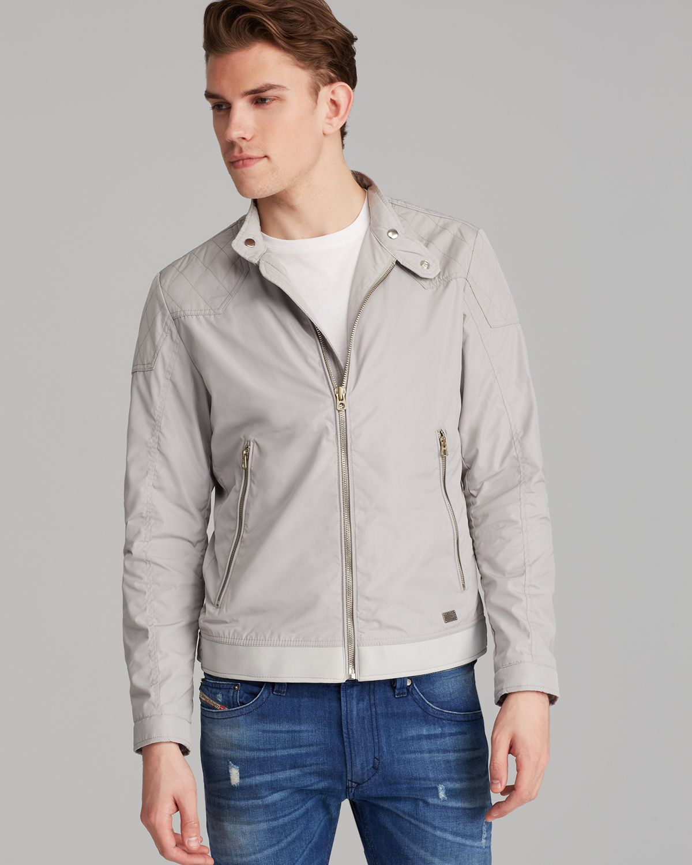 Diesel Jhollis Lightweight Jacket in Gray for Men | Lyst