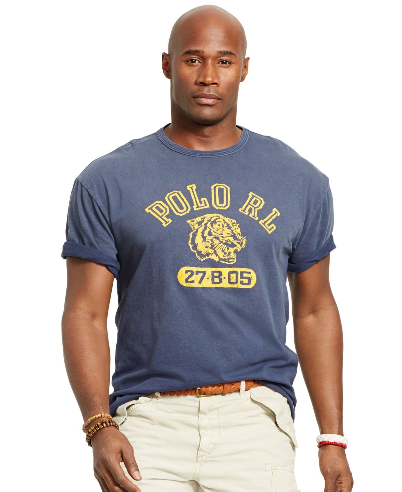 Lyst polo ralph lauren big and tall tiger print t shirt for Big and tall printed t shirts