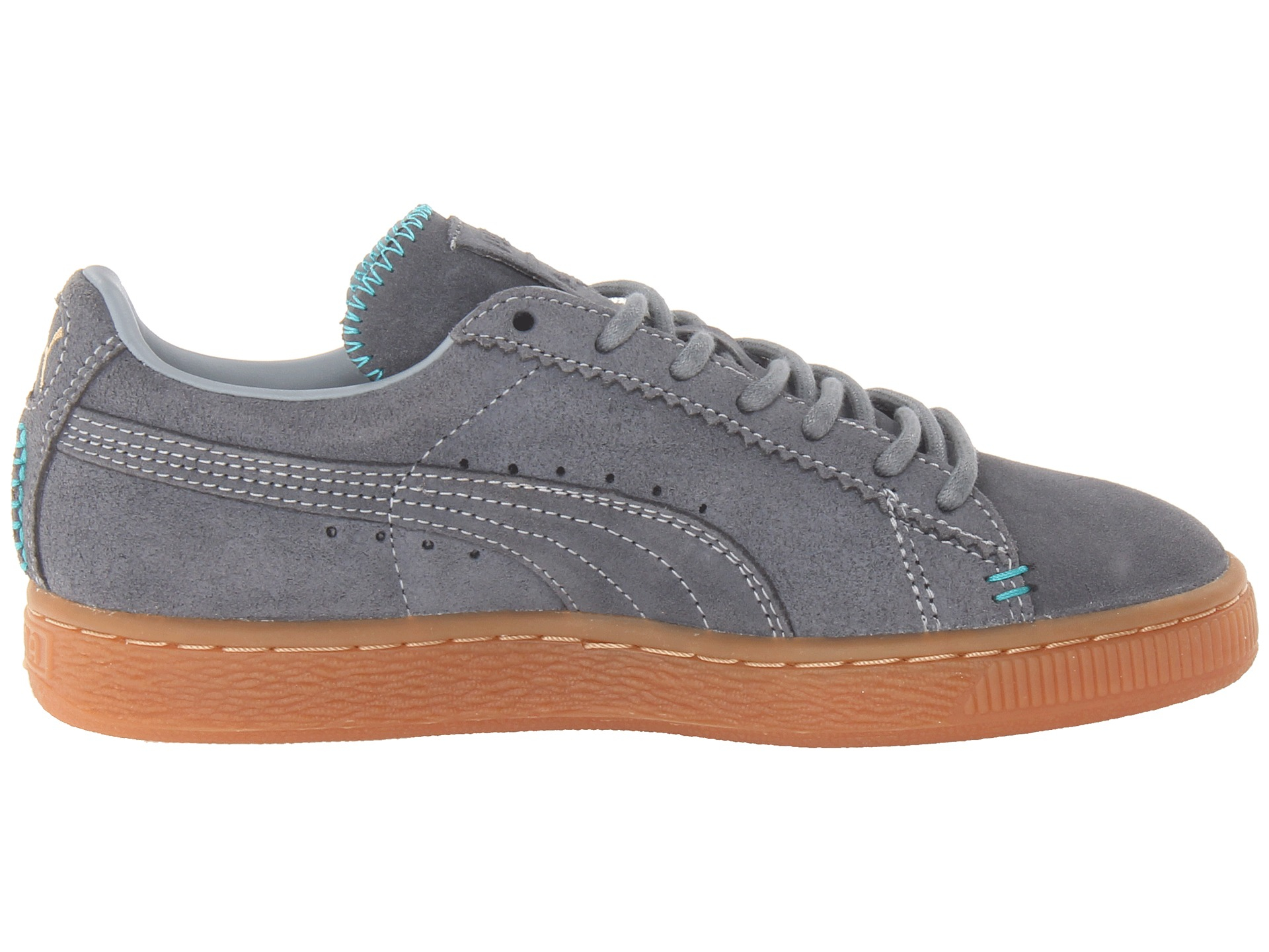 puma suede classic crafted in gray tradewinds bluebird. Black Bedroom Furniture Sets. Home Design Ideas
