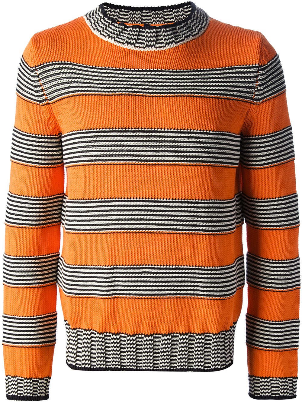 Dondup Striped Sweater in Orange for Men | Lyst