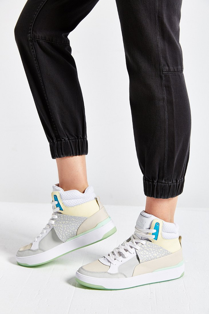 Lyst - PUMA X Mcqueen Brace Femme Mid-top Sneaker in White 1e1e9edf4