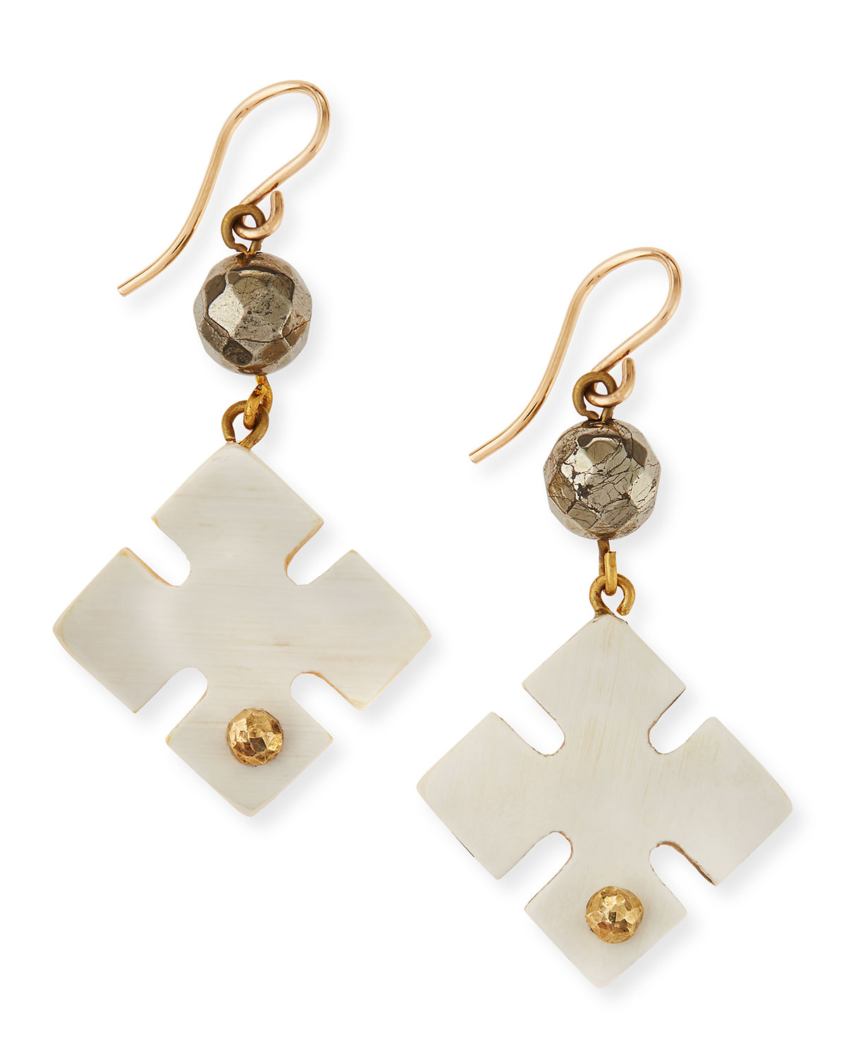 Ashley Pittman Mashua Light Horn Drop Earrings BMBMbF