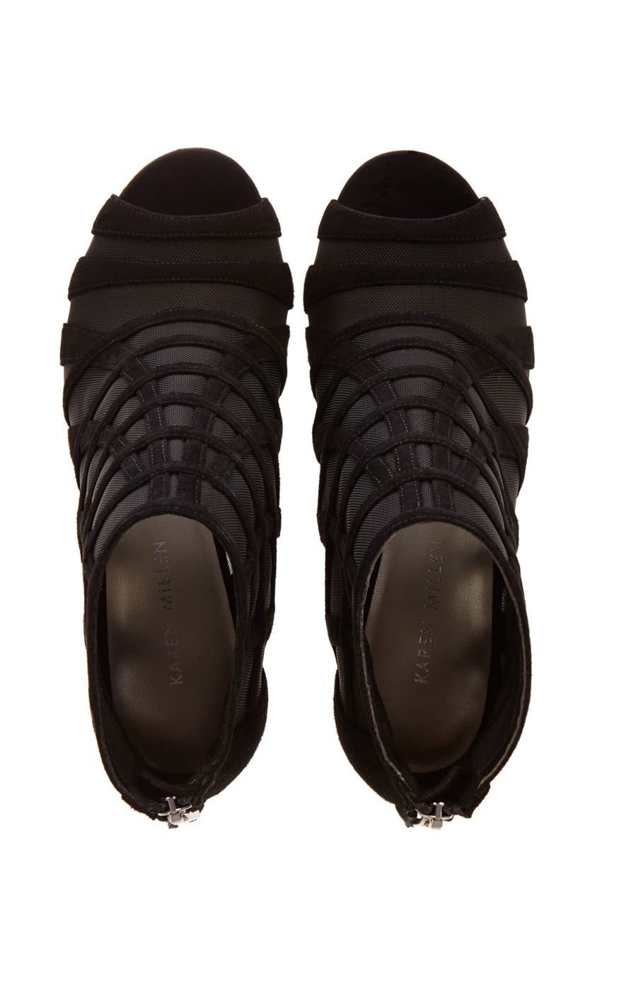 millen mesh and suede shoe boot in black lyst