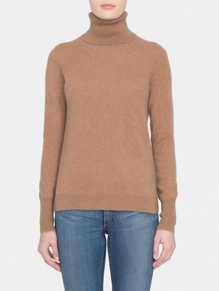 White + warren Essential Cashmere Turtleneck in Beige ...