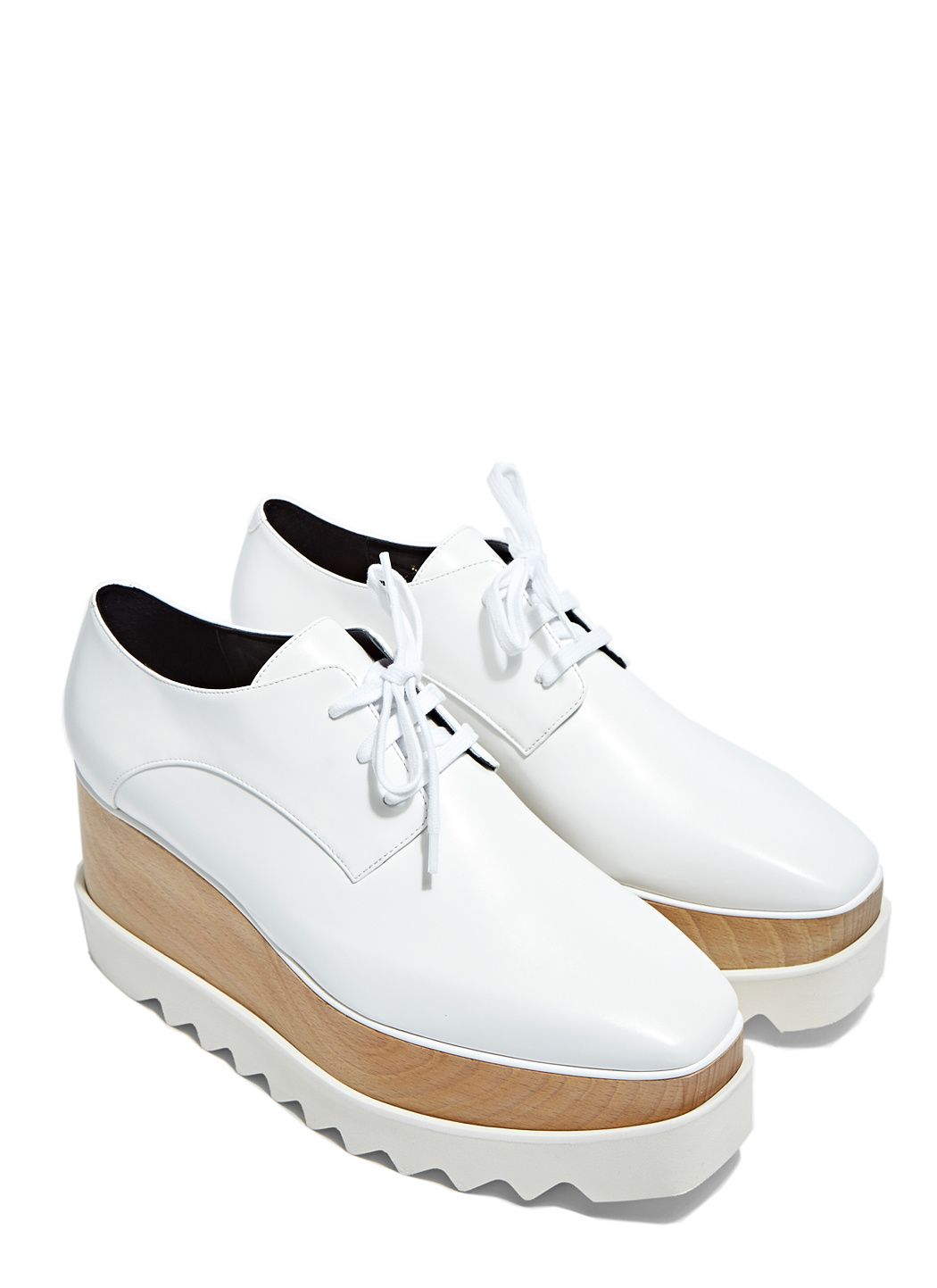 stella mccartney elyse platform shoes in white lyst