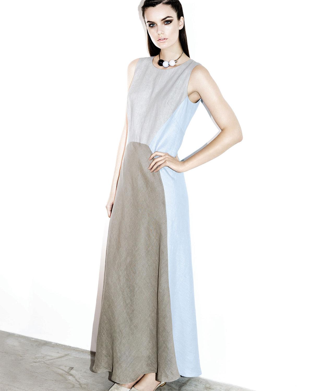 Linen Maxi Dress