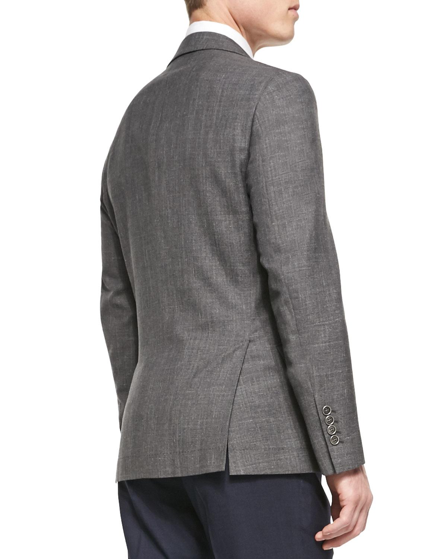 2240859f964 Lyst - Brunello Cucinelli Wool-blend Flamed Blazer in Gray for Men