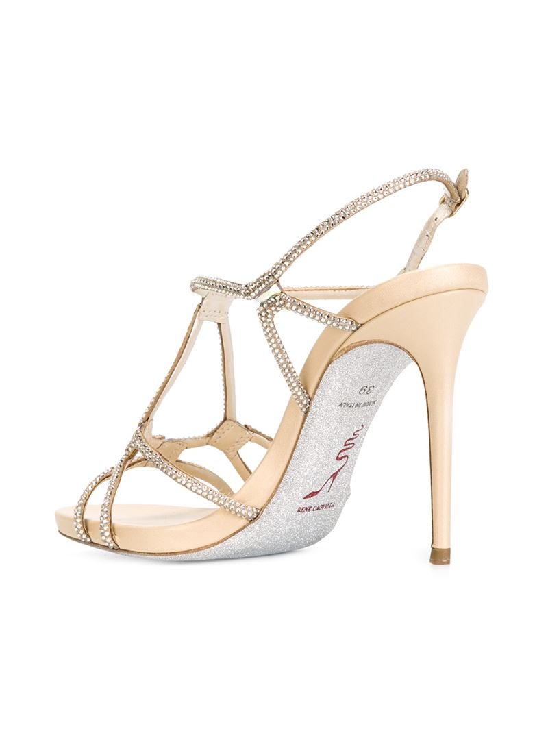 strappy embellished sandals - Nude & Neutrals Rene Caovilla Cheap Sale Looking For mywBP3njm4