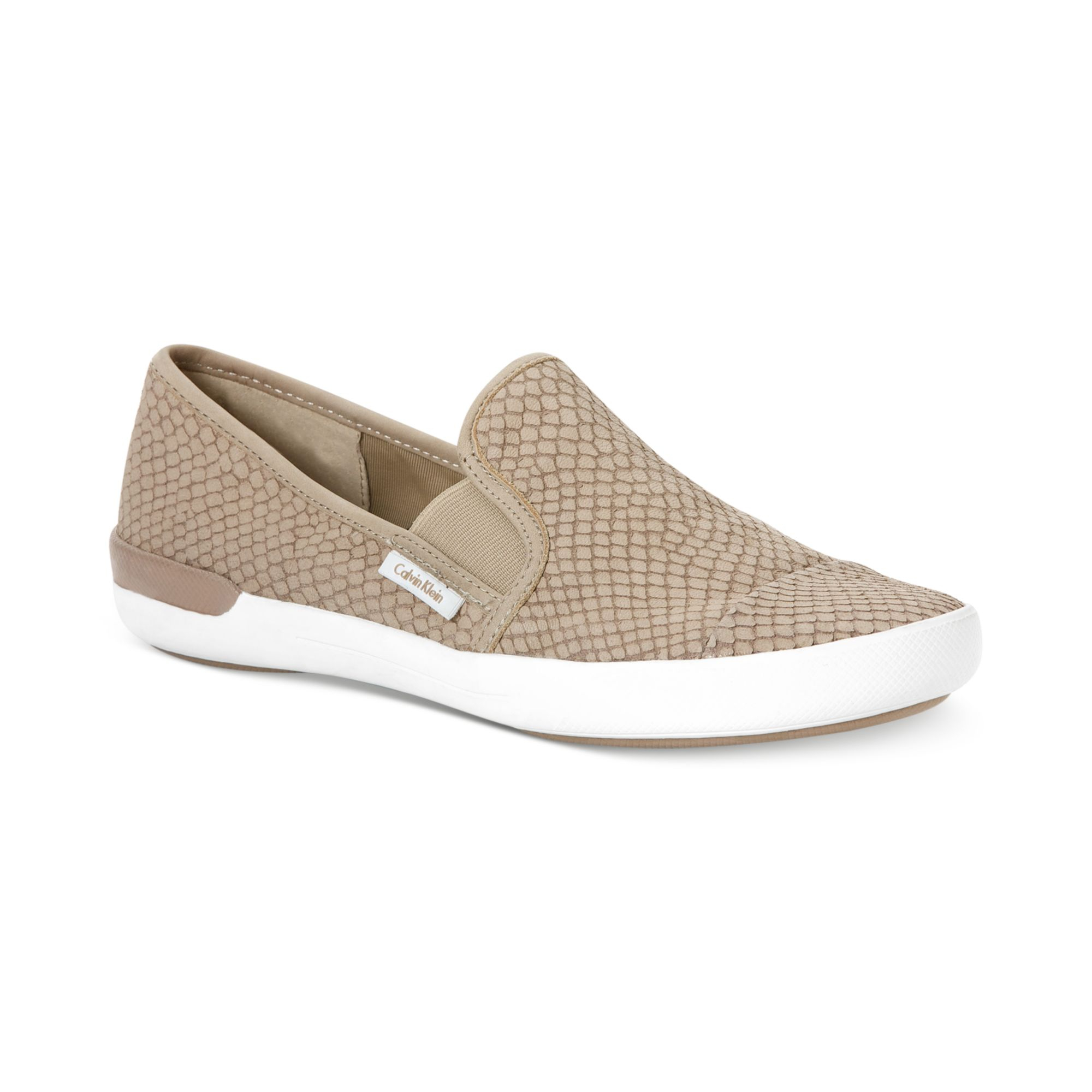 lyst calvin klein womens tacie sneakers in natural for men. Black Bedroom Furniture Sets. Home Design Ideas