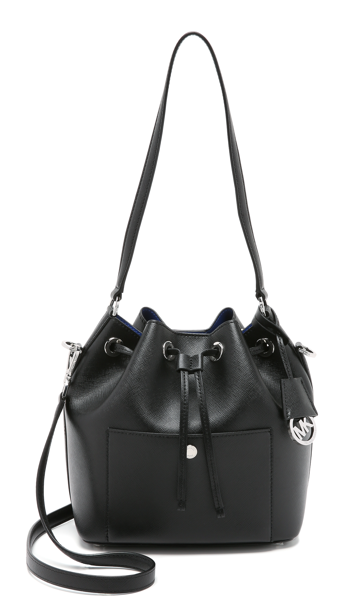 Lyst - MICHAEL Michael Kors Greenwich Medium Bucket Bag in Black b56982062467b