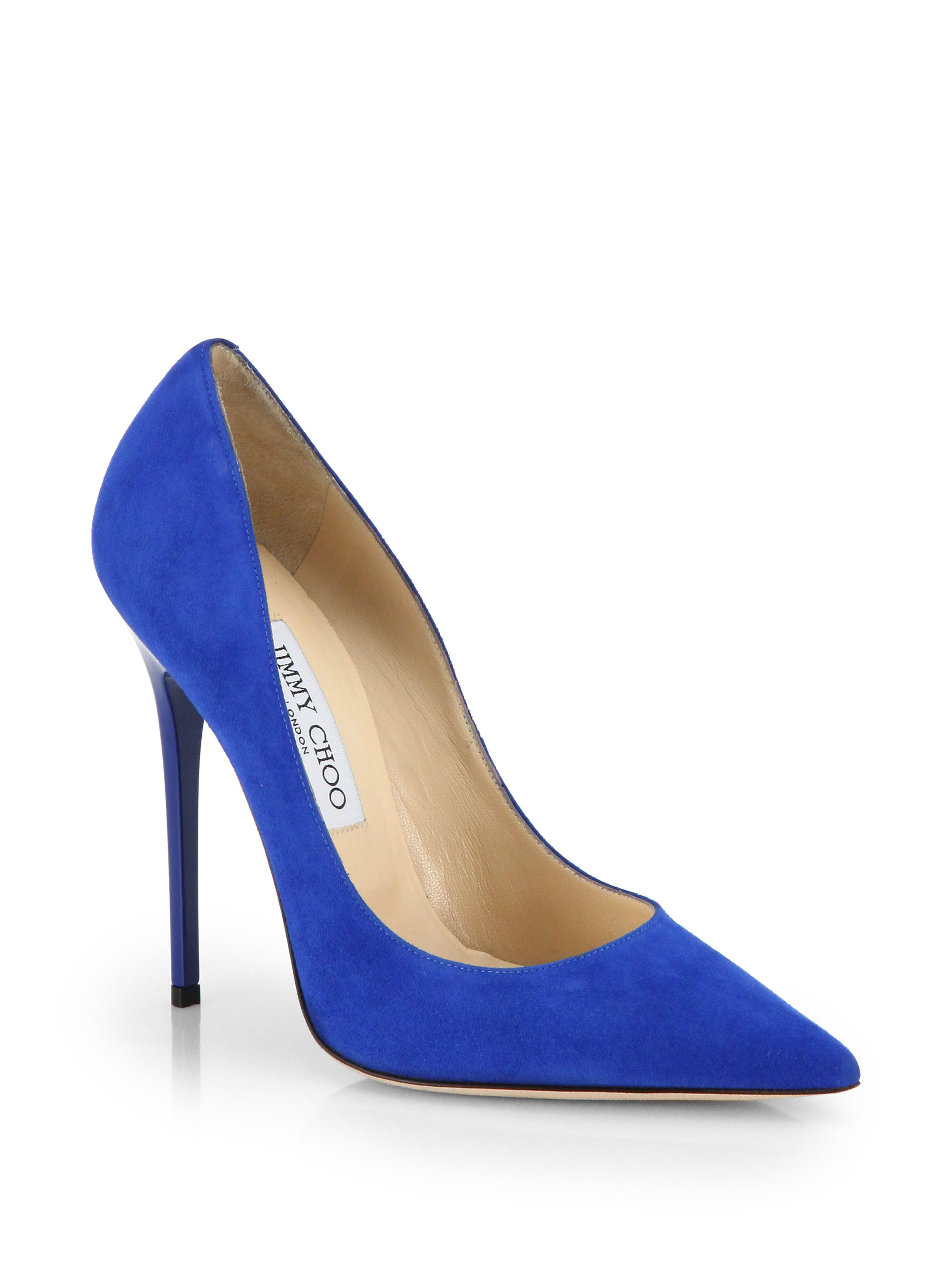 faf67561d1d3 ... coupon code for lyst jimmy choo anouk suede pumps in blue dc549 76e23