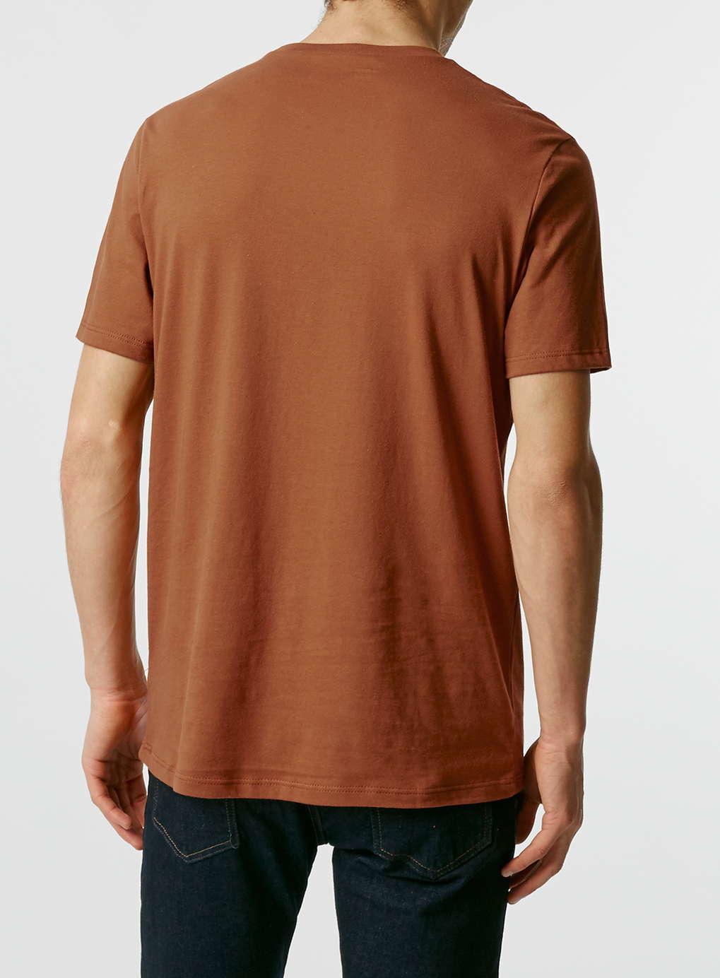 topman pumpkin slim fit t shirt in orange for men lyst. Black Bedroom Furniture Sets. Home Design Ideas