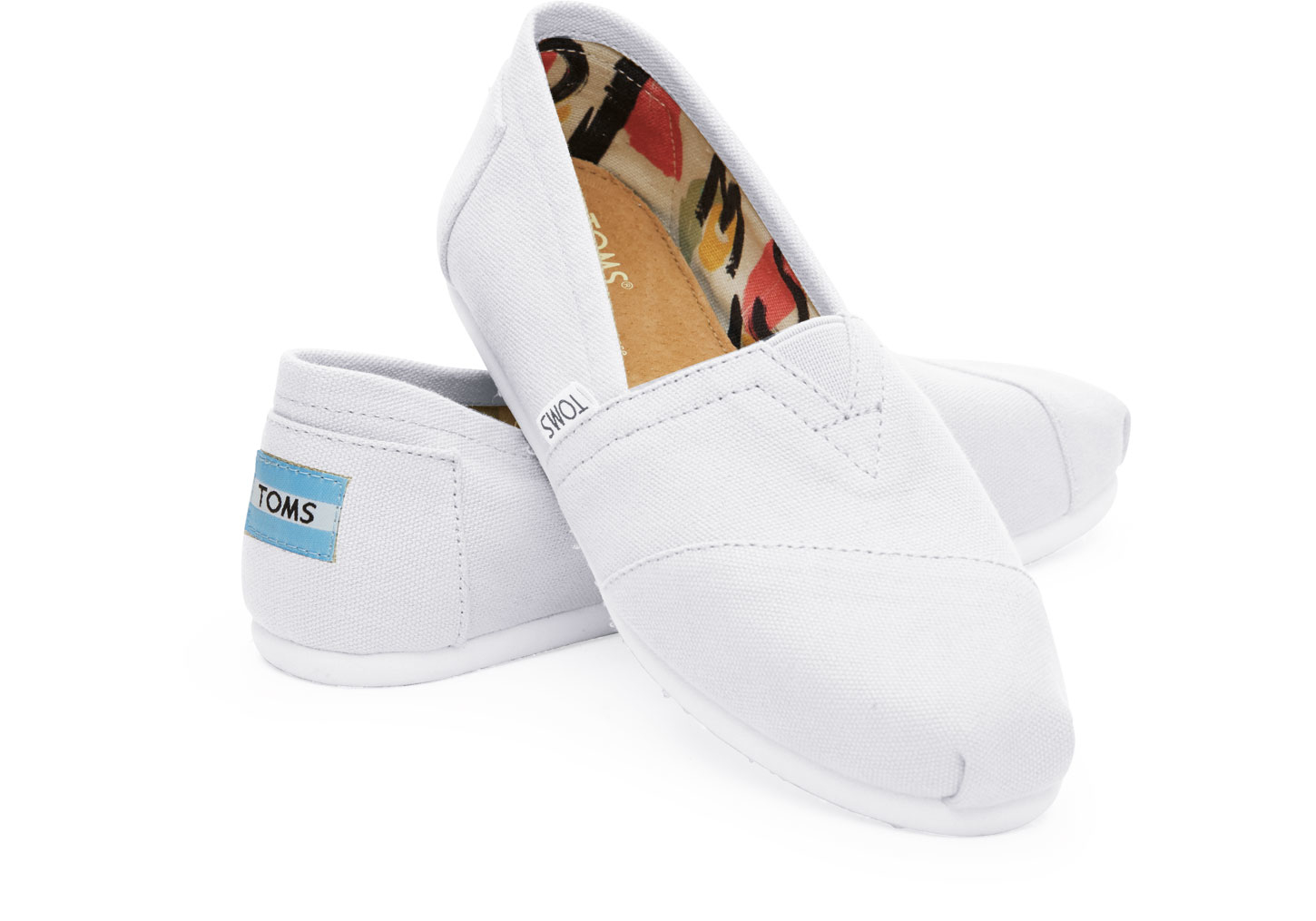 toms optic white canvas s classics in white lyst