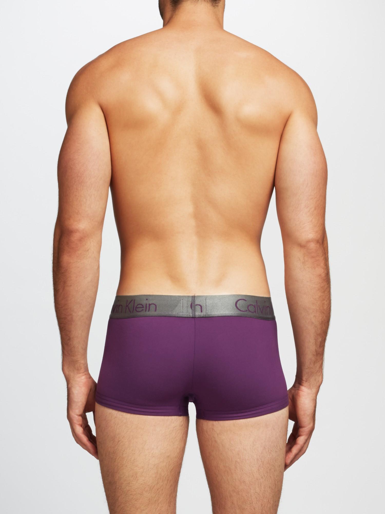5d201f9d0a Calvin Klein Zinc Micro Low Rise Trunks in Purple for Men - Lyst
