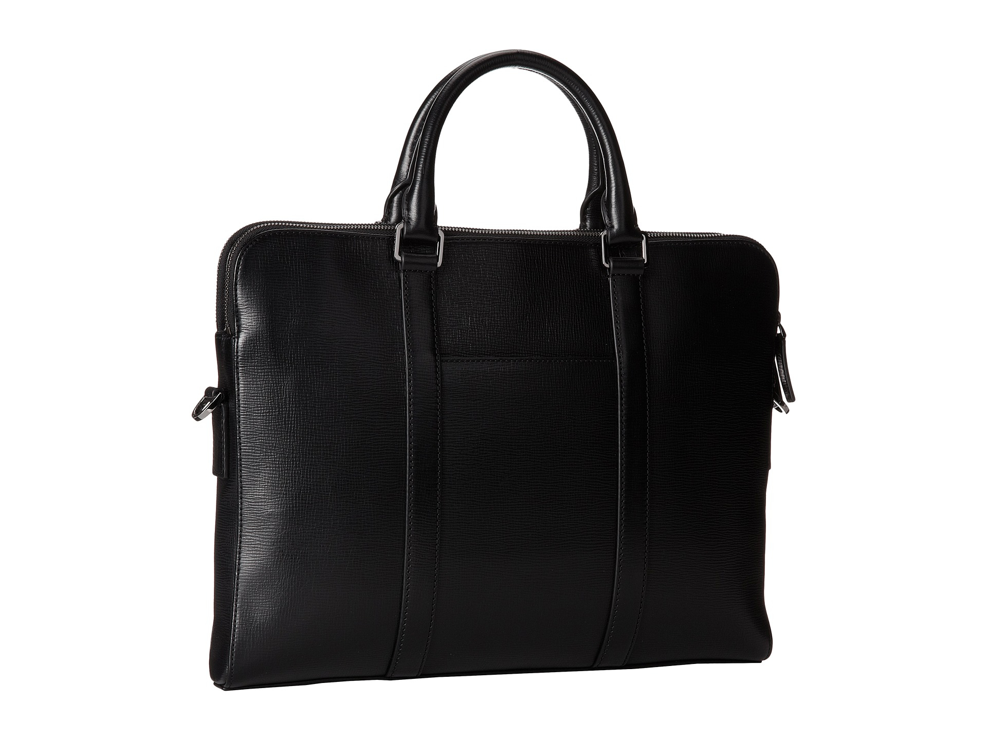 8dee1f580 Michael Kors Warren Double Zip Briefcase in Black for Men - Lyst