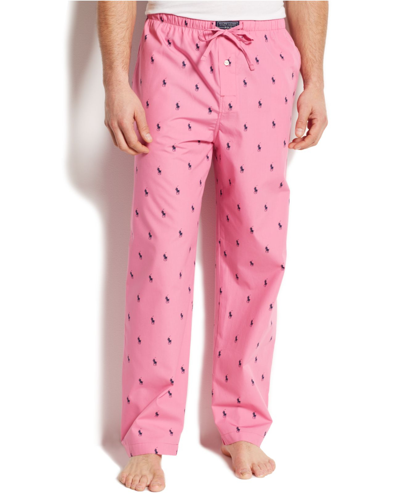 Polo ralph lauren Allover Pony Pajama Pants in Pink for ...