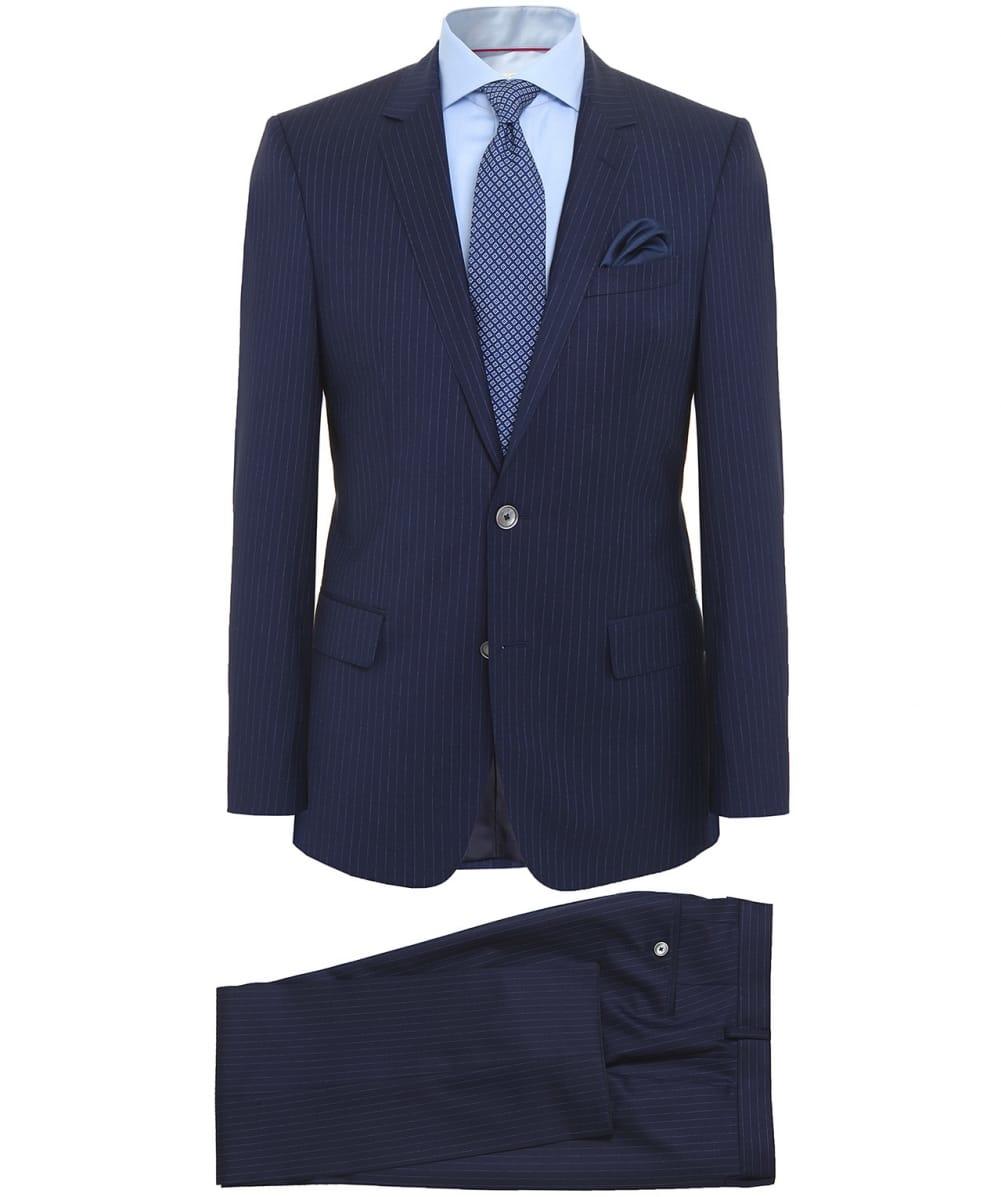 lyst boss slim fit hutson2 gander1 pinstripe suit in. Black Bedroom Furniture Sets. Home Design Ideas
