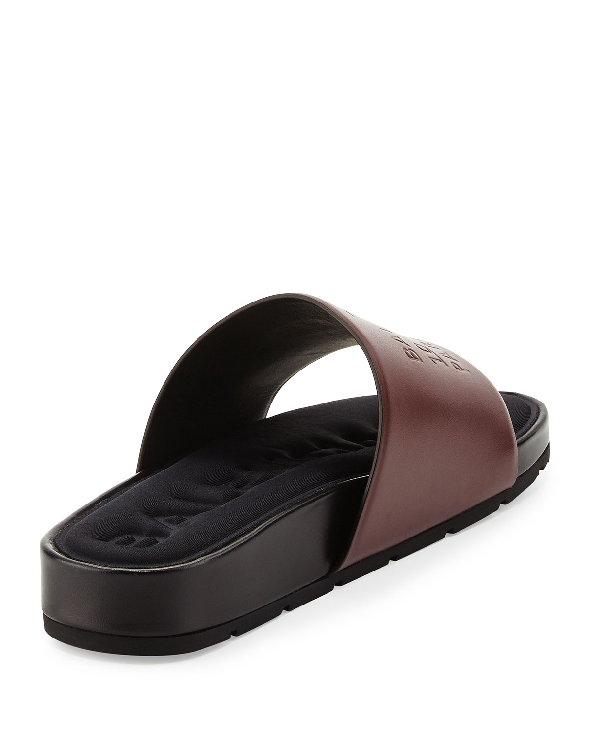 Lyst Balenciaga Embossed Leather Slides In Brown