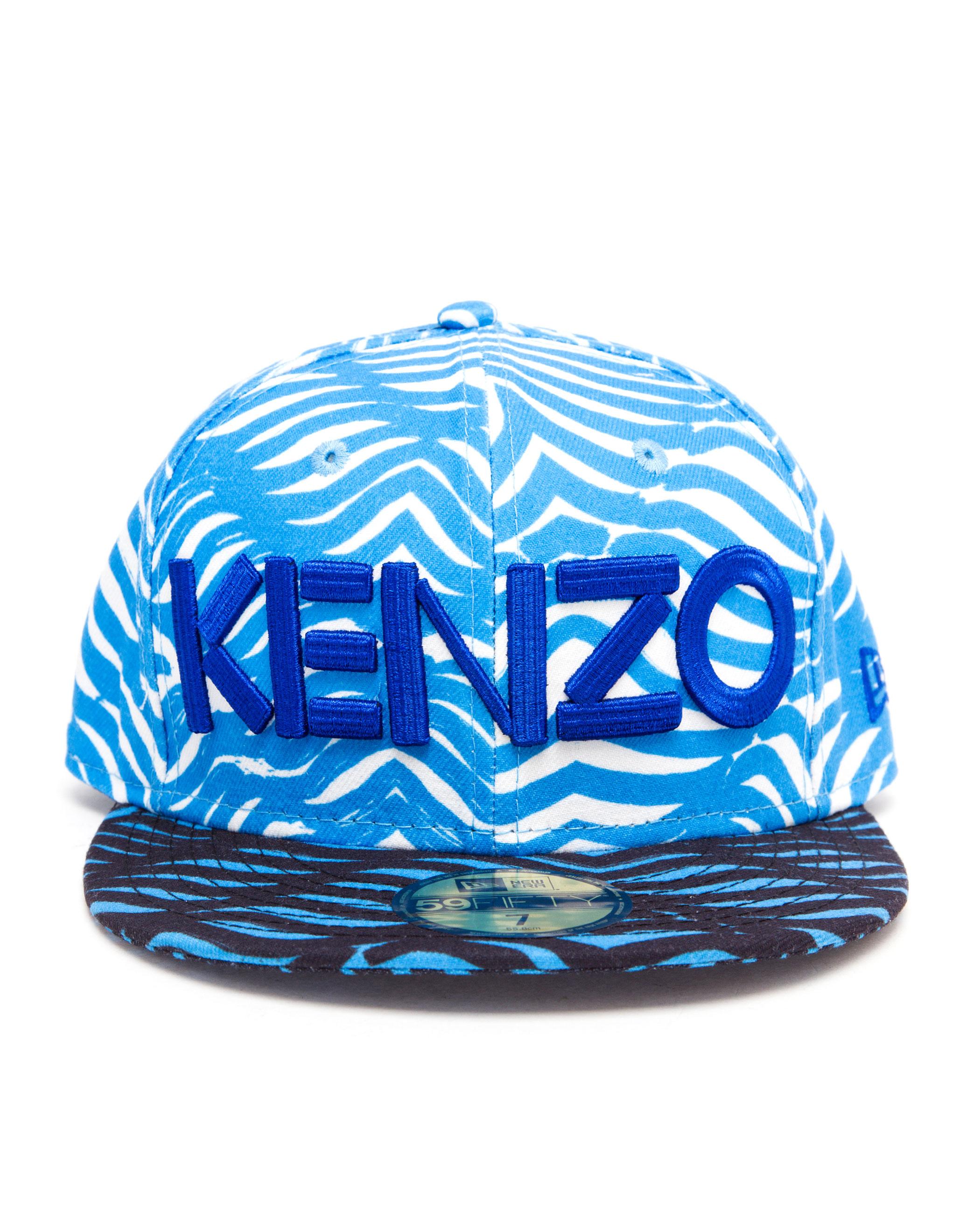 KENZO X New Era Zebra Printed Cap in Blue - Lyst 272eb2bdc356