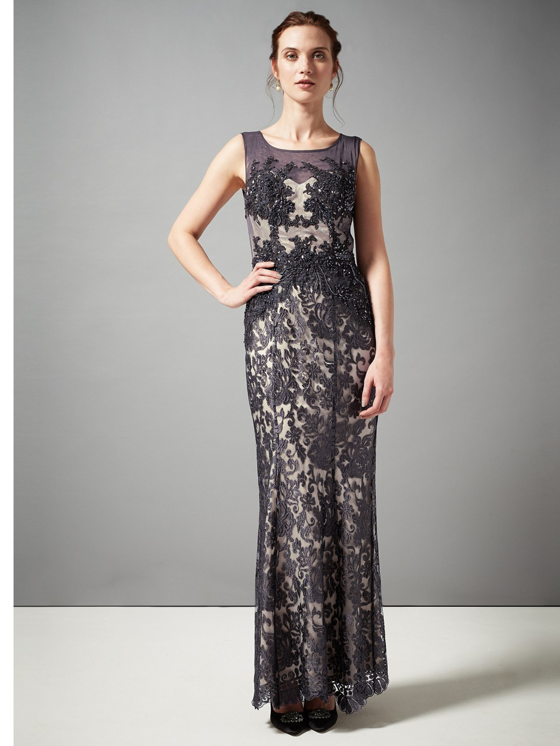 Phase Eight Pedra Lace Maxi Dress In Metallic Lyst