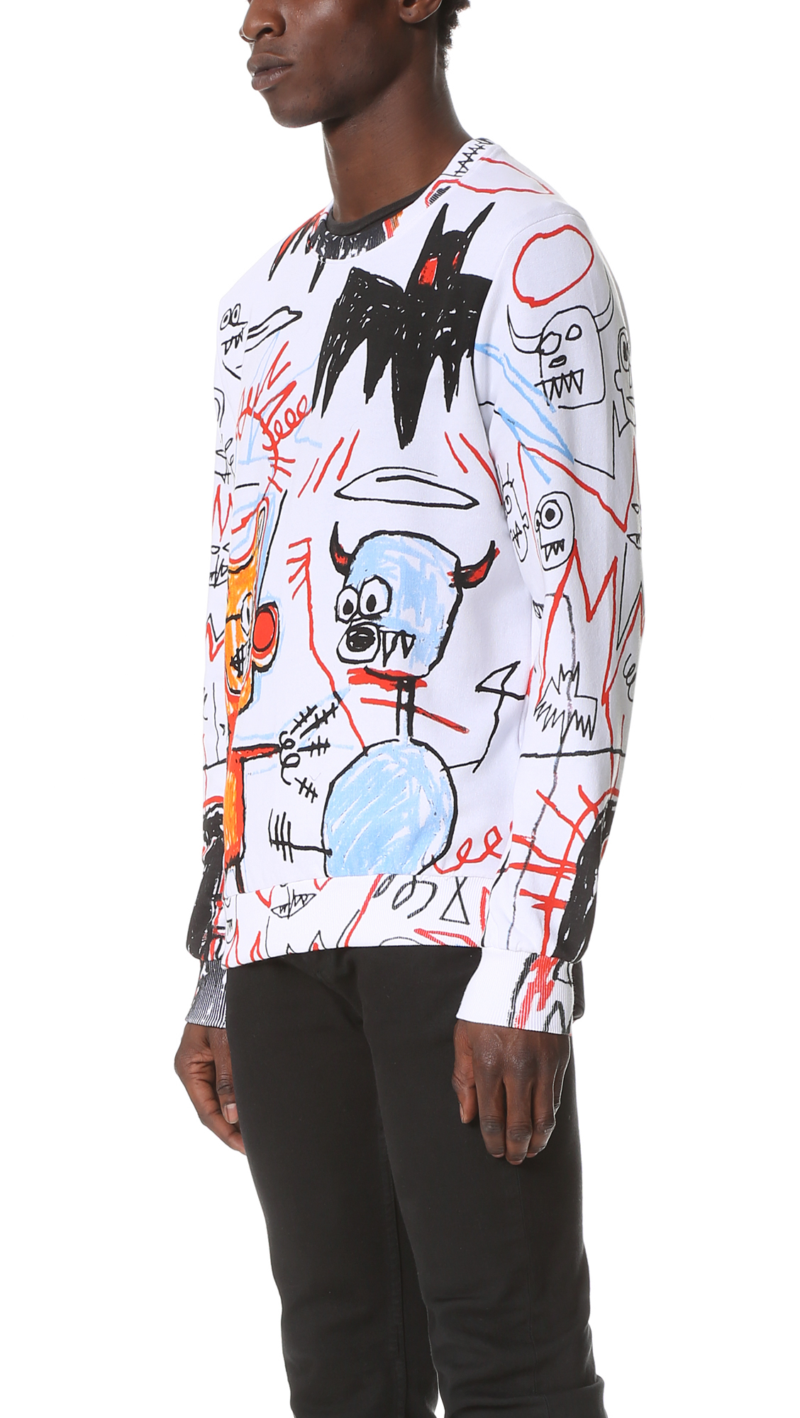 Eleven Paris Basquiat 11 Mx Sweatshirt In White For Men Lyst