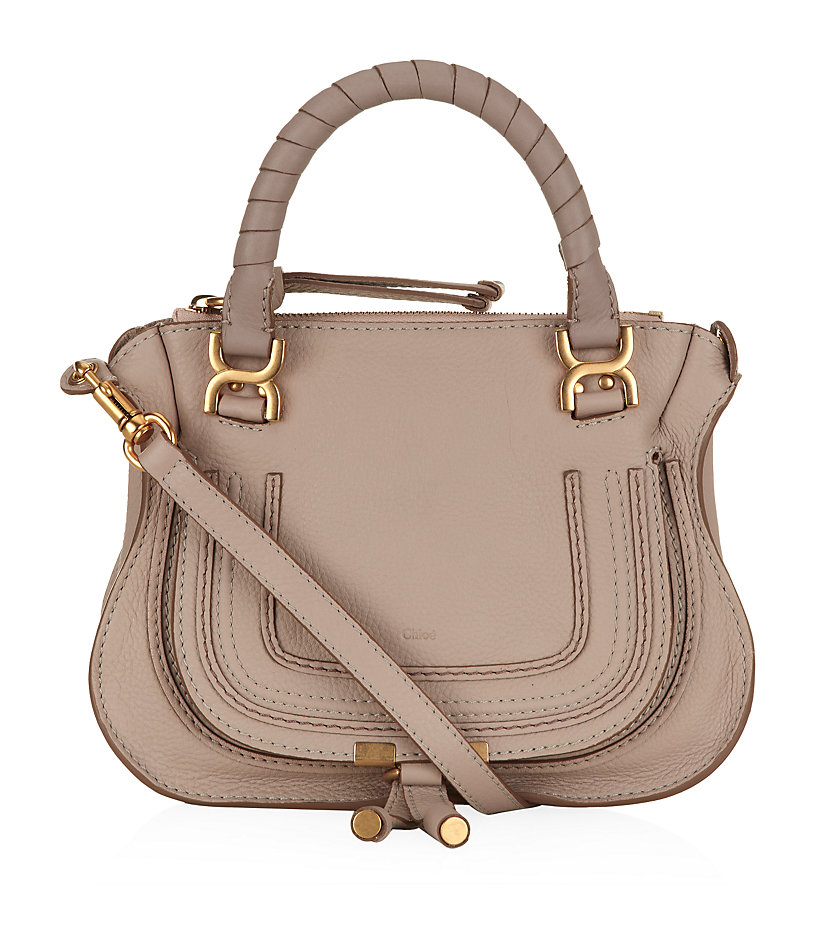 Chlo¨¦ Mini Marcie Shoulder Bag in Beige (Rope Beige) | Lyst