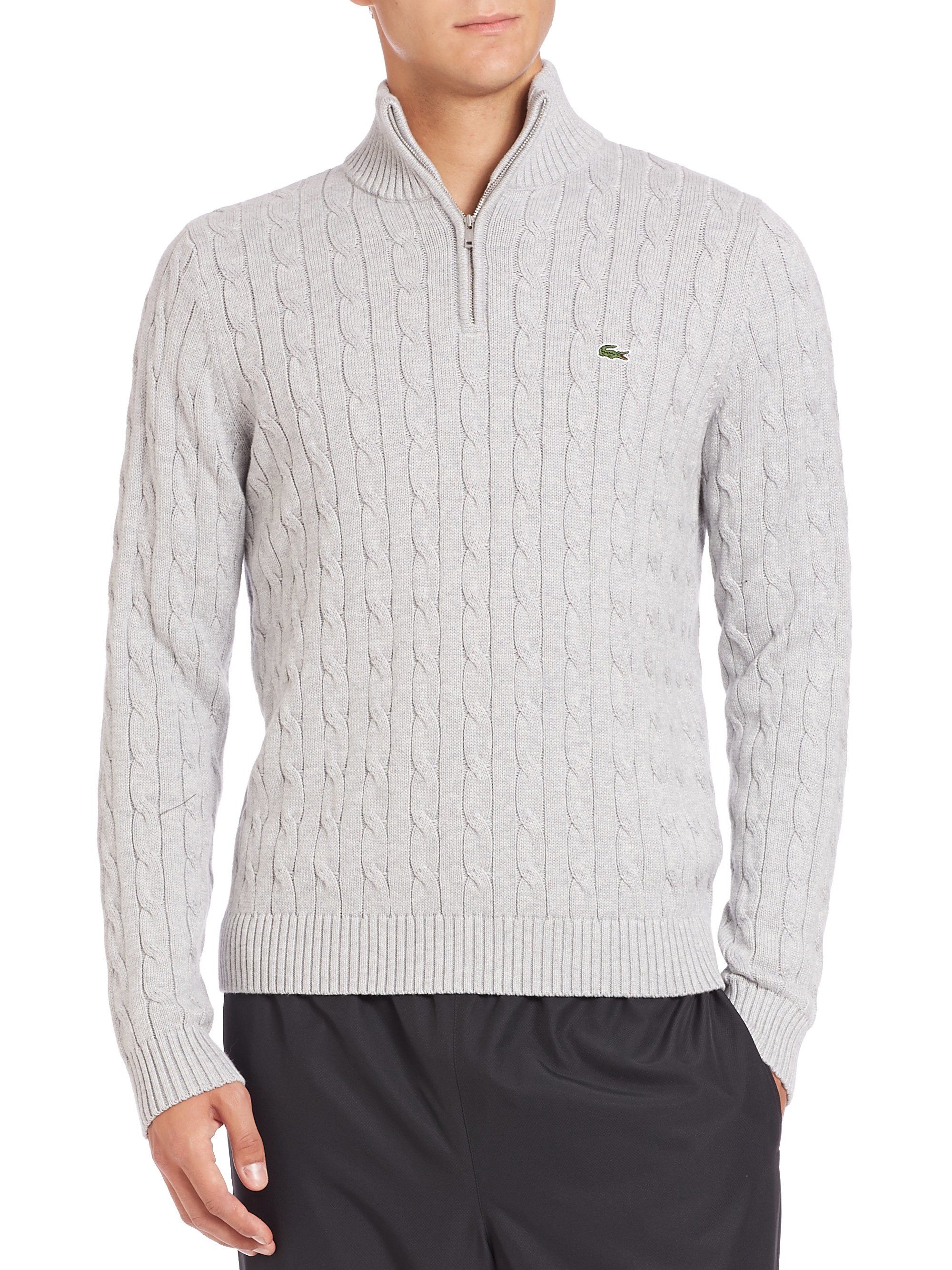 Lacoste Mens Cable Knit Sweater English Sweater Vest