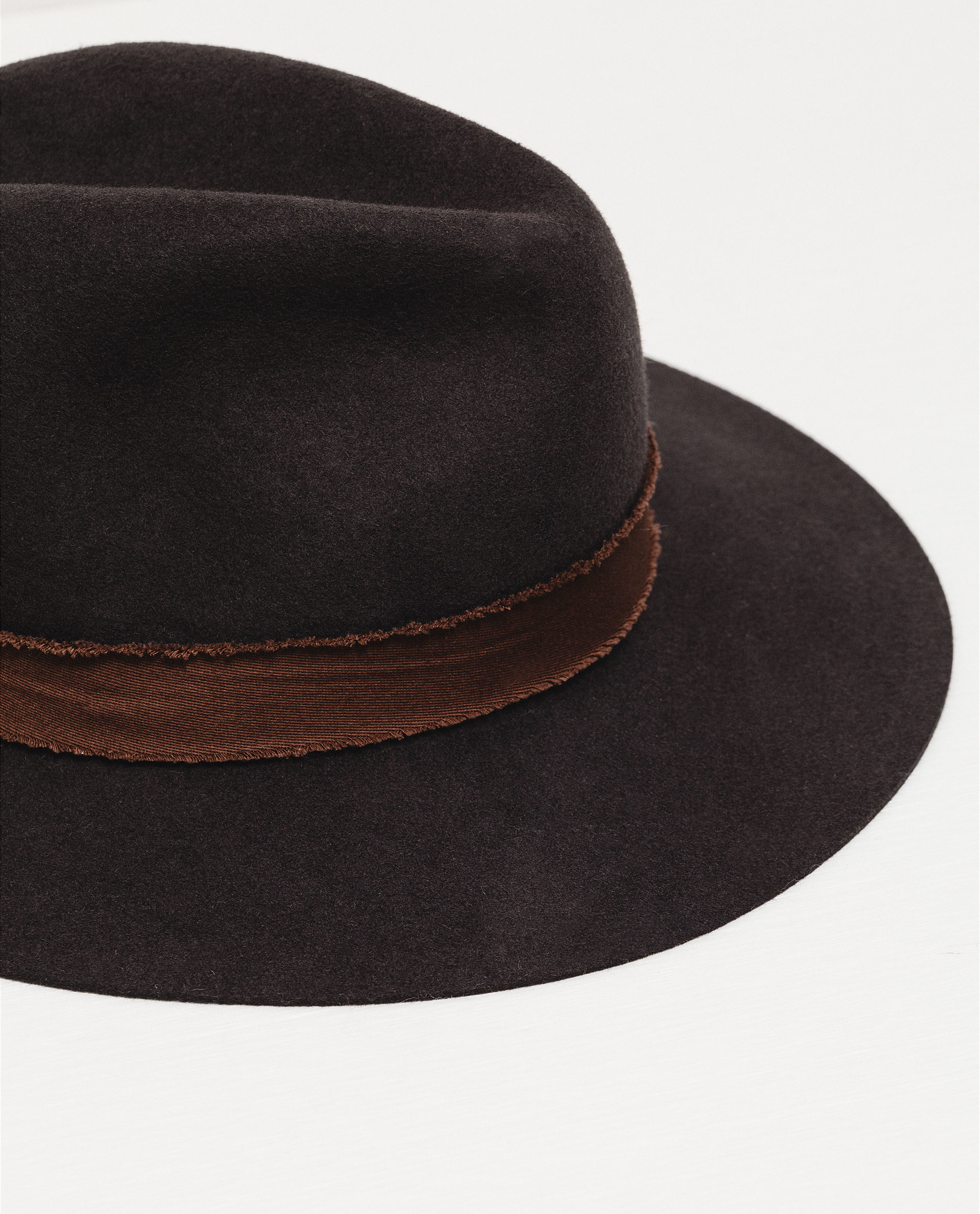 zara hat with rustic band in brown lyst