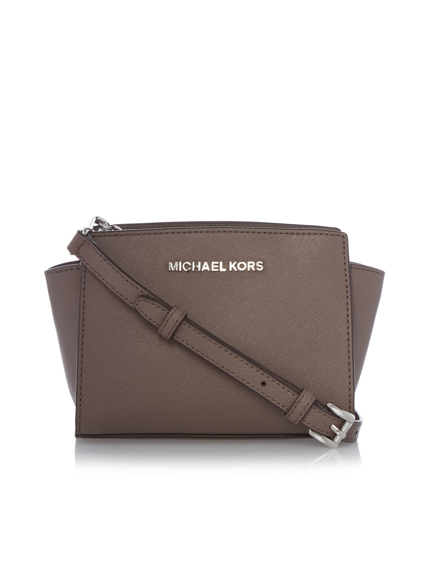 717ddff2d discount selma saffiano leather medium satchel michael kors 2f069 2ce45;  coupon for michael kors selma taupe mini cross body bag in brown lyst a4736  dc6e4