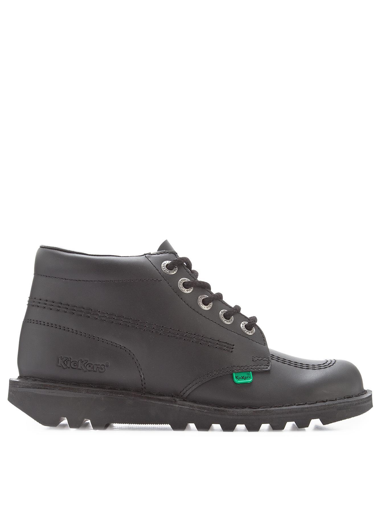 Kickers Kick Hi Mens Boots In Black For Men Lyst