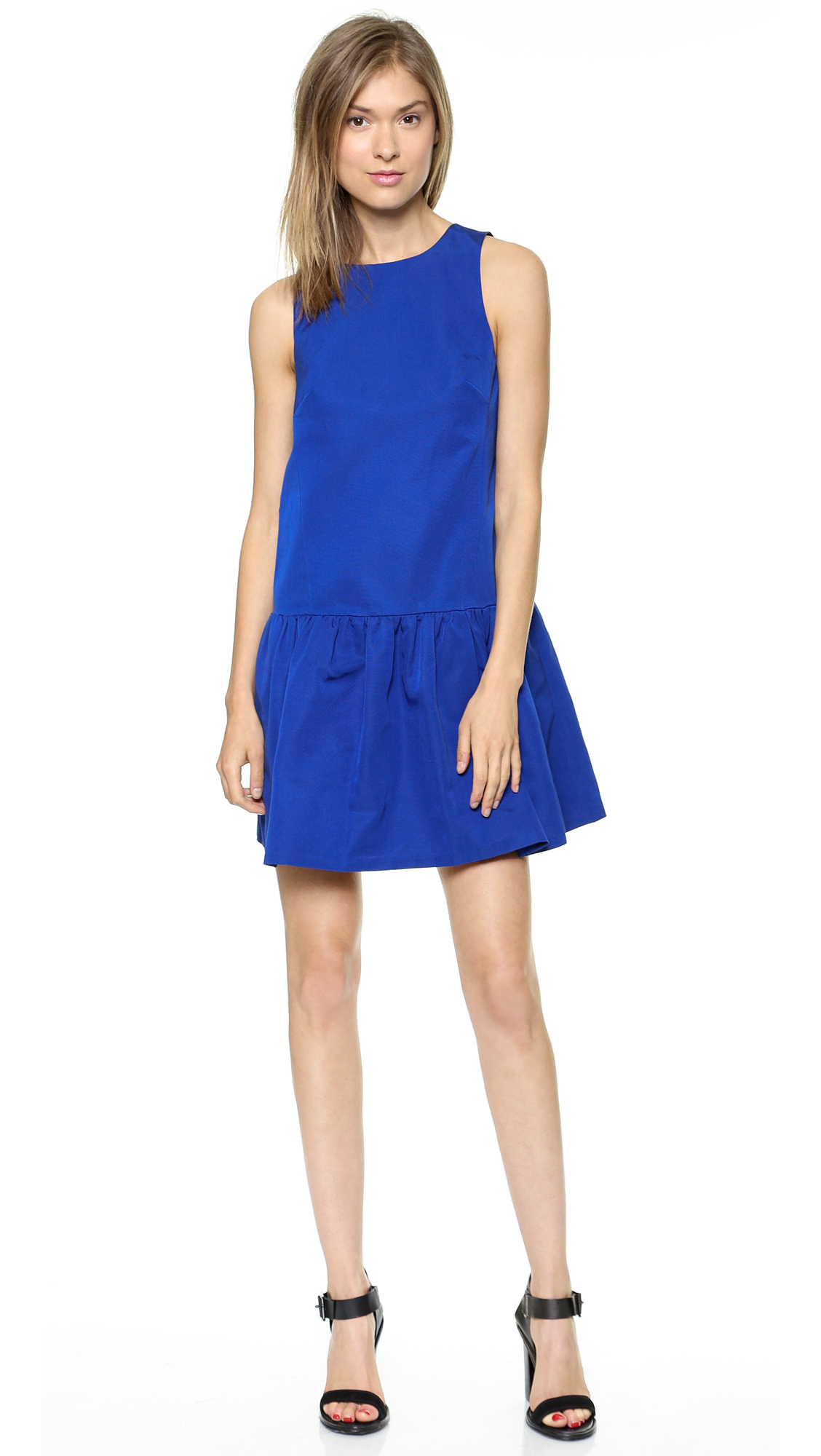 Tibi Sleeveless Flirty Dress Electric Blue in Blue - Lyst