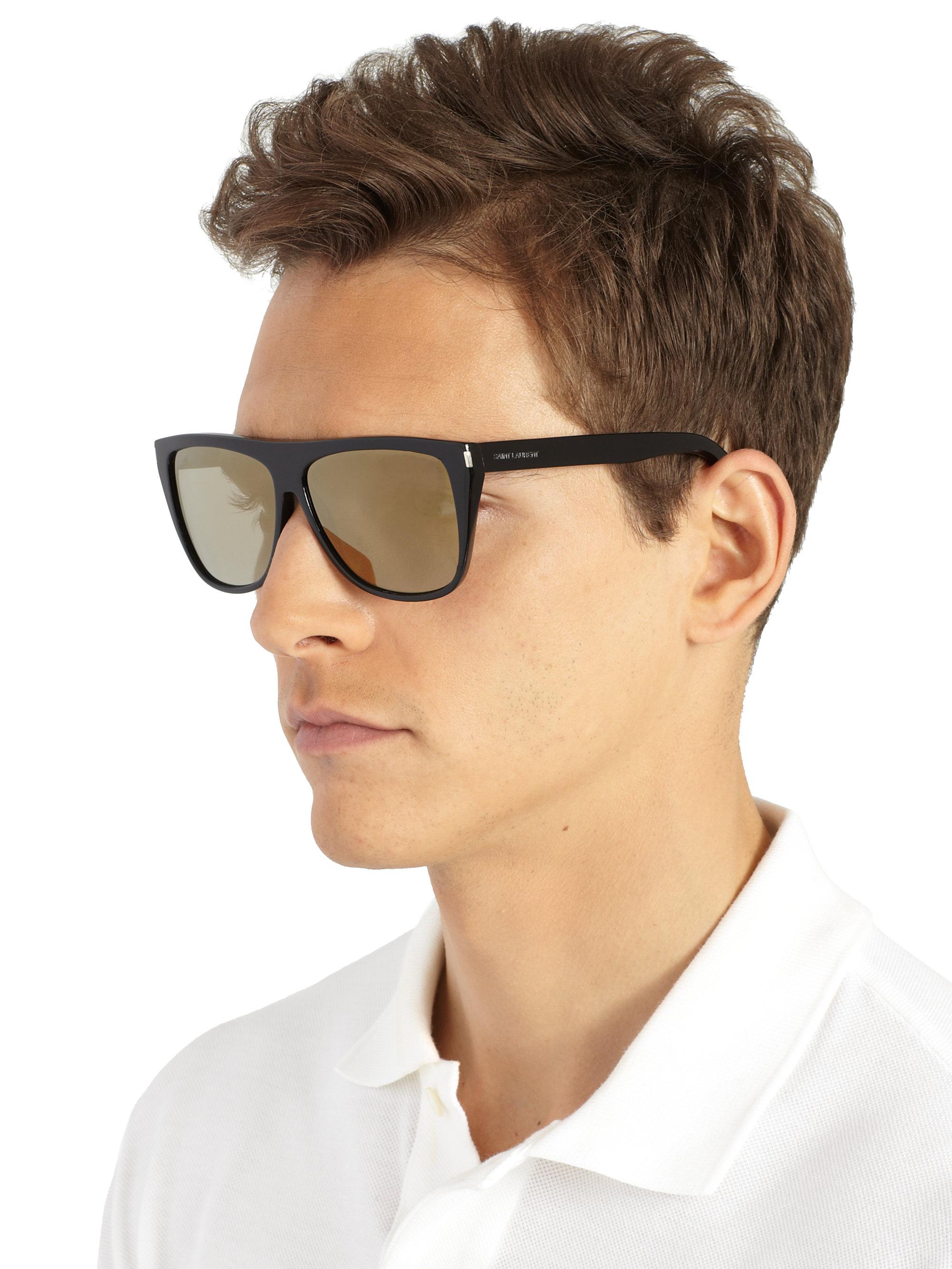Lyst Saint Laurent Oversized Square Sunglasses In Black