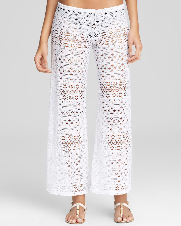 Ralph Lauren Polo Crochet Pants Swim Cover Up In White Lyst