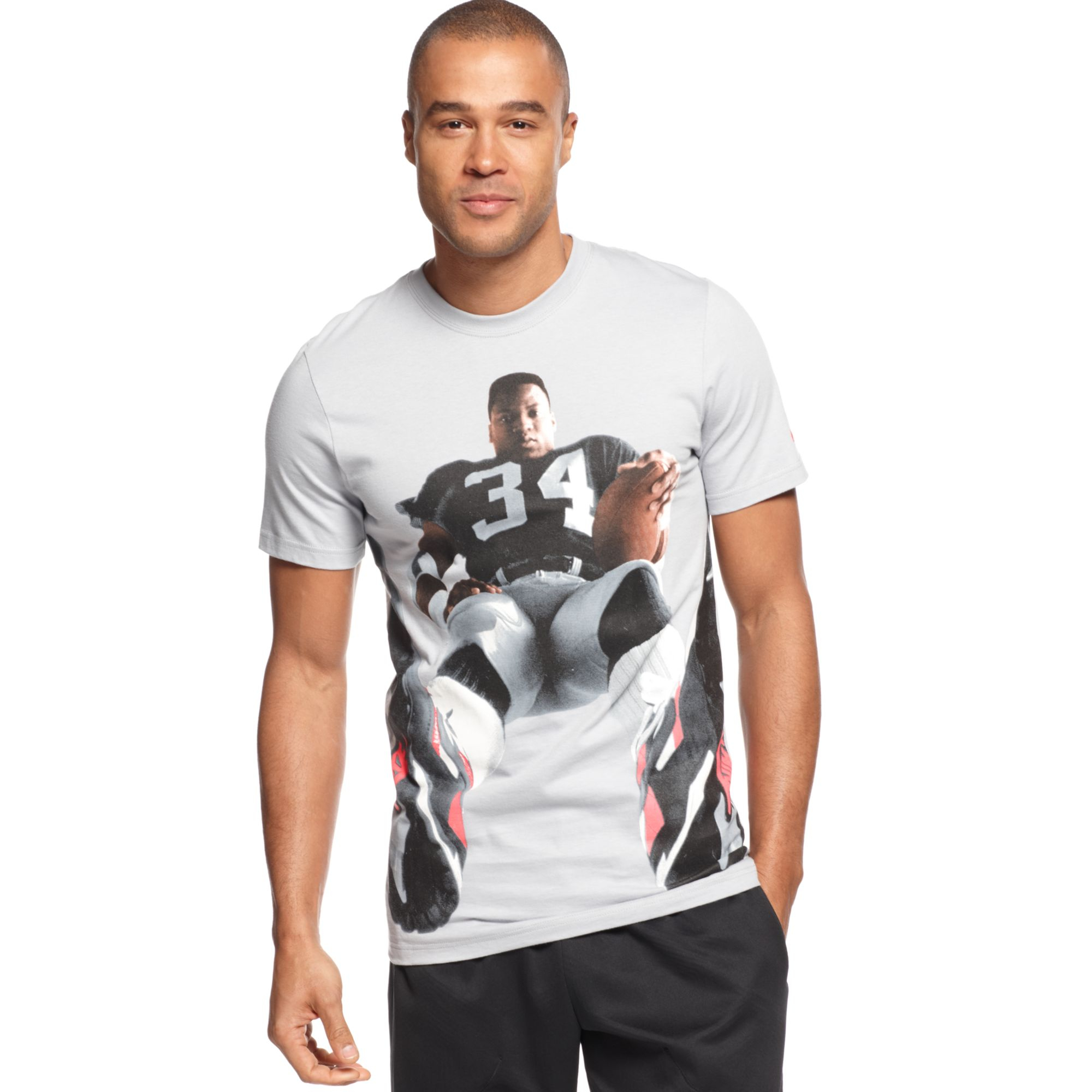 Nike Bo Jackson Graphic Tshirt In Gray For Men Wolf Grey