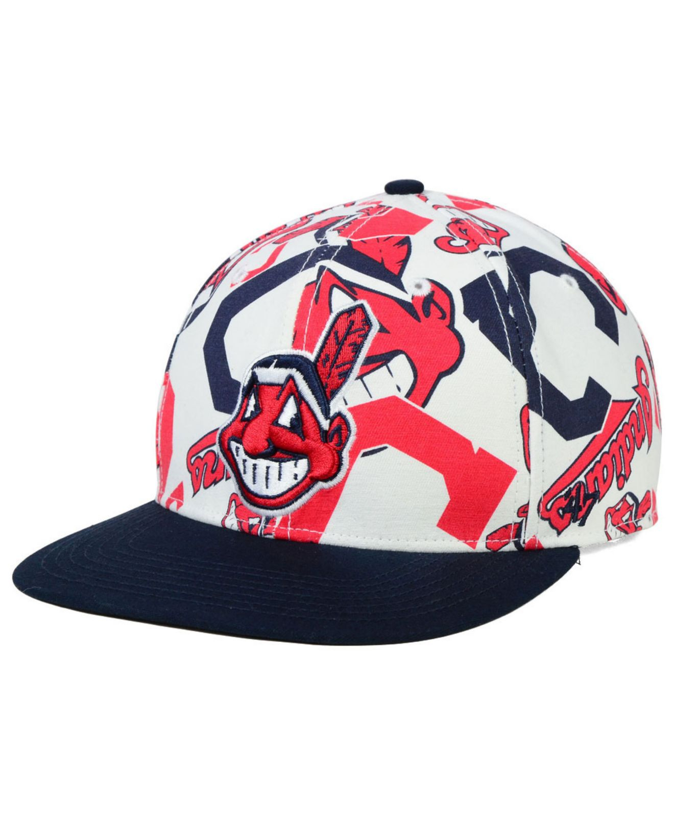 free shipping 35525 0485d ... norway lyst 47 brand cleveland indians snapback cap in white for men  956e9 ef6fd