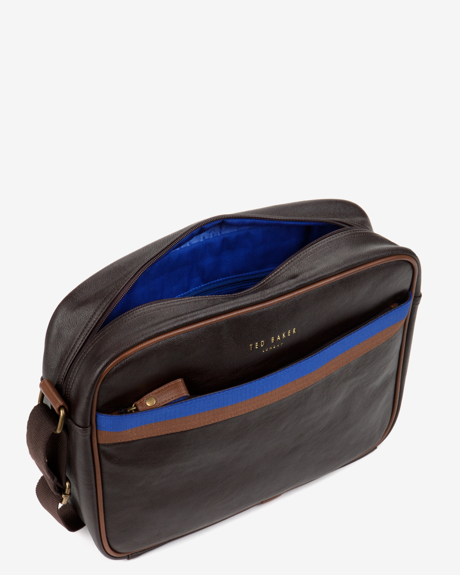 Ted Baker Cross Body Document Bag in Brown for Men - Lyst 1a662bd6515b5