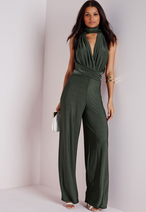 c7604060b59 Lyst - Missguided Do It Any Way Multiway Jumpsuit Navy in Blue