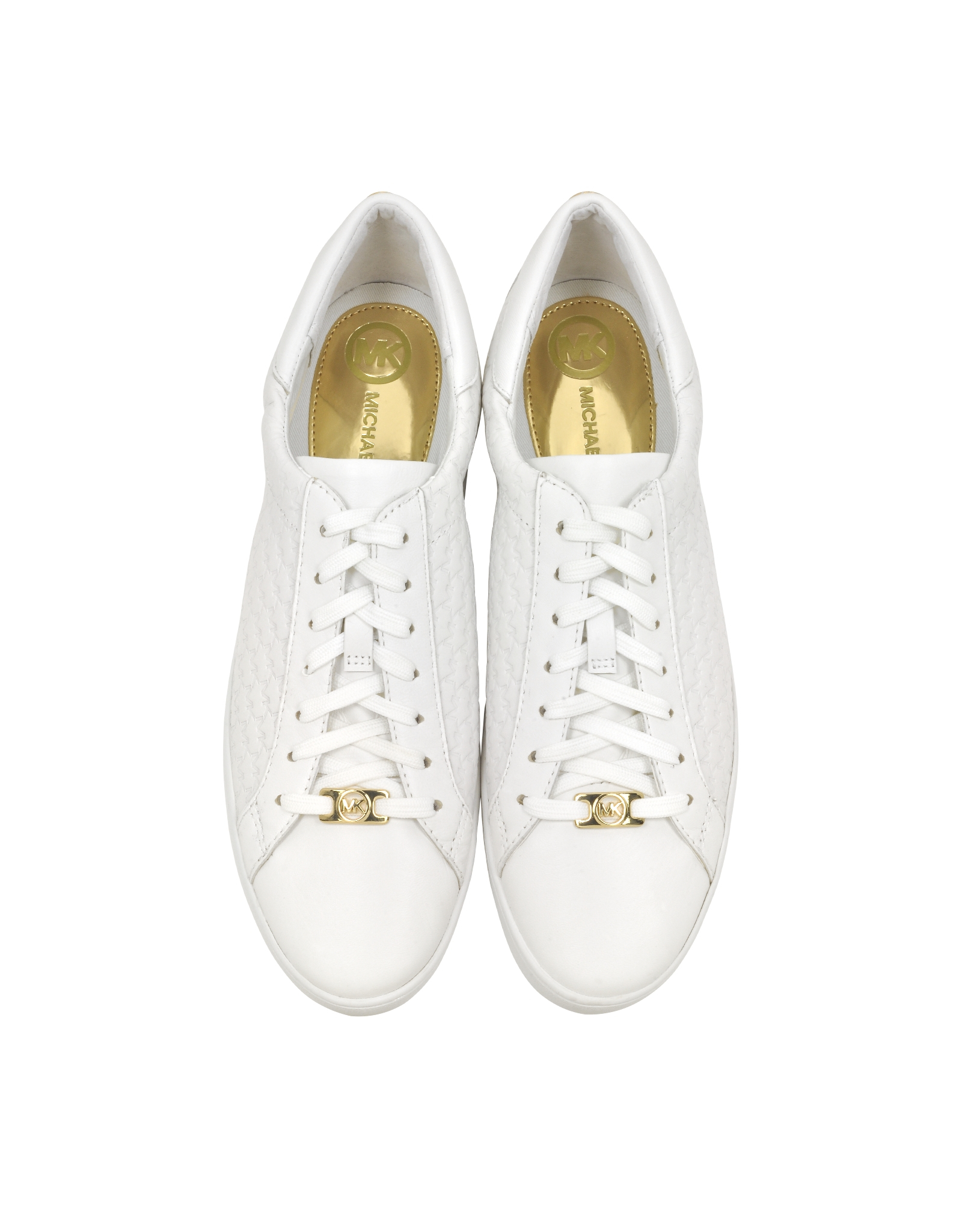731c40a8c20 Michael Kors Colby Optic White Embossed Leather Sneaker in White - Lyst