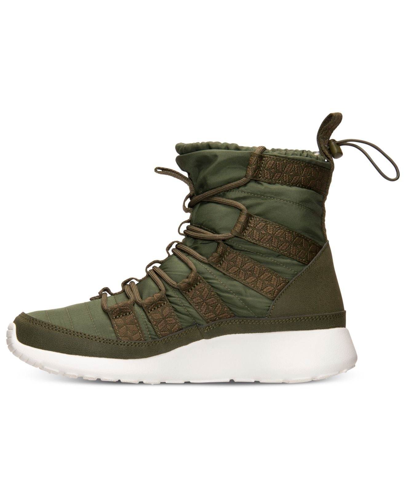 d0b99e0e31526 Lyst - Nike Women S Roshe Run Hi Sneakerboots From Finish Line in Green
