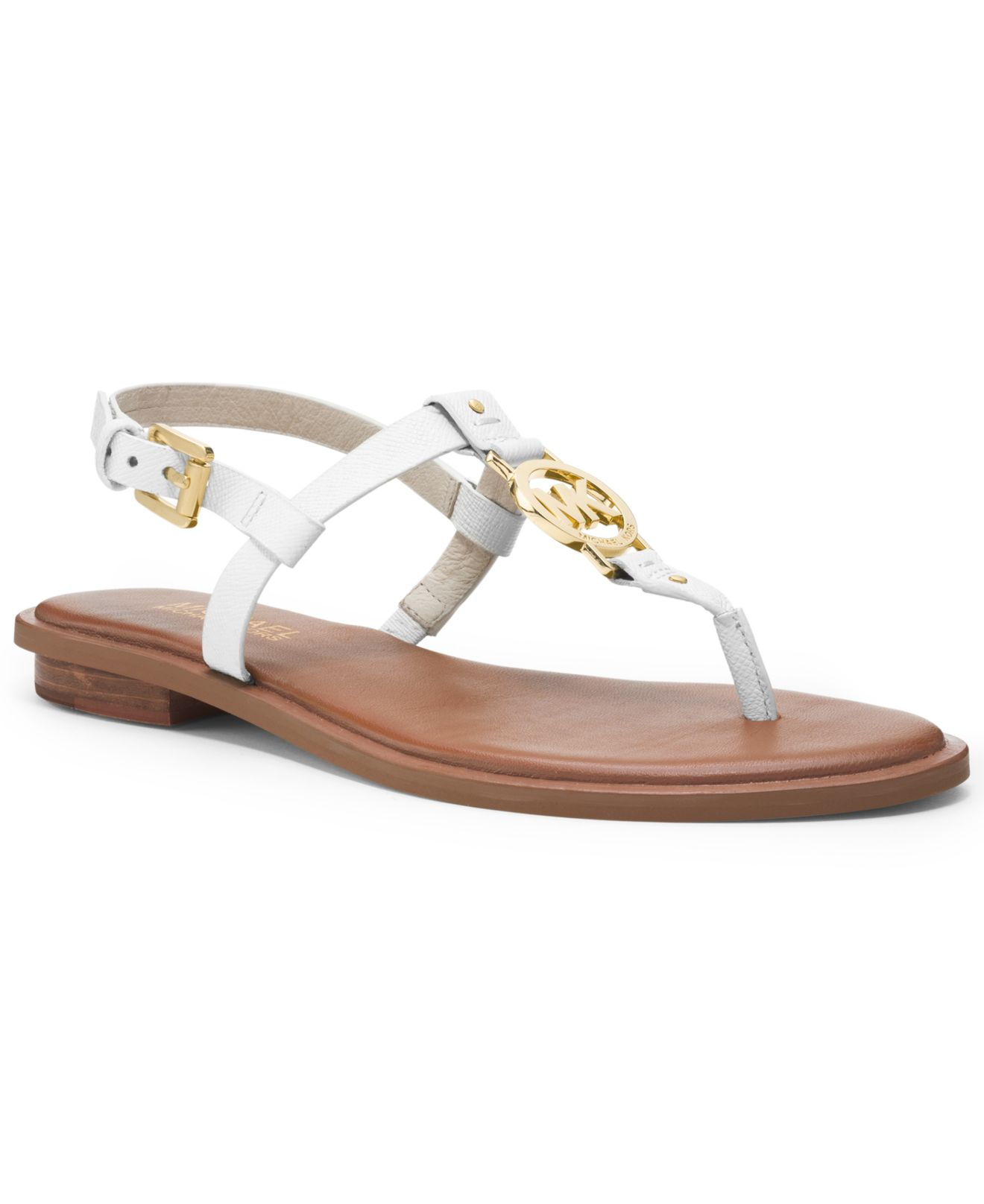 Lyst - Michael Kors Michael Sondra Thong Sandals in White